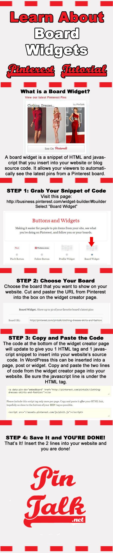 Tutorial Pinterest Board Widgets