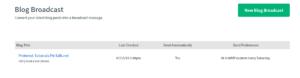 AWeber Blog- Broadcast Dashboard