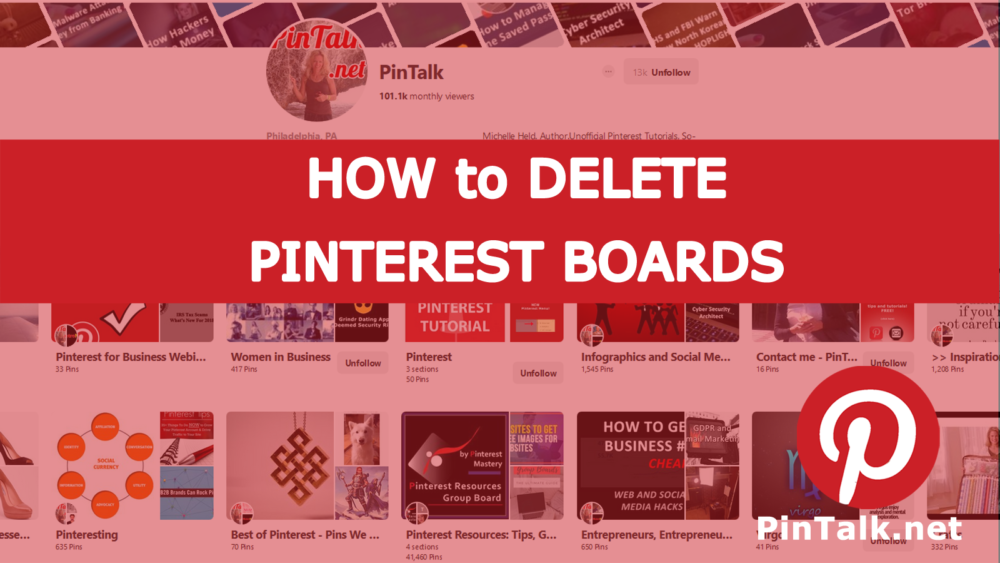 Delete Pinterest Board