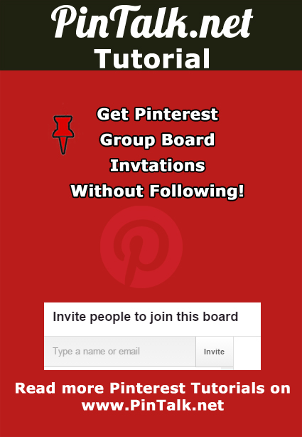 Follow Pinterest group board to be invited to pin