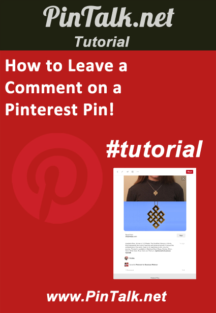 How to Leave Comment Pinterest Pin