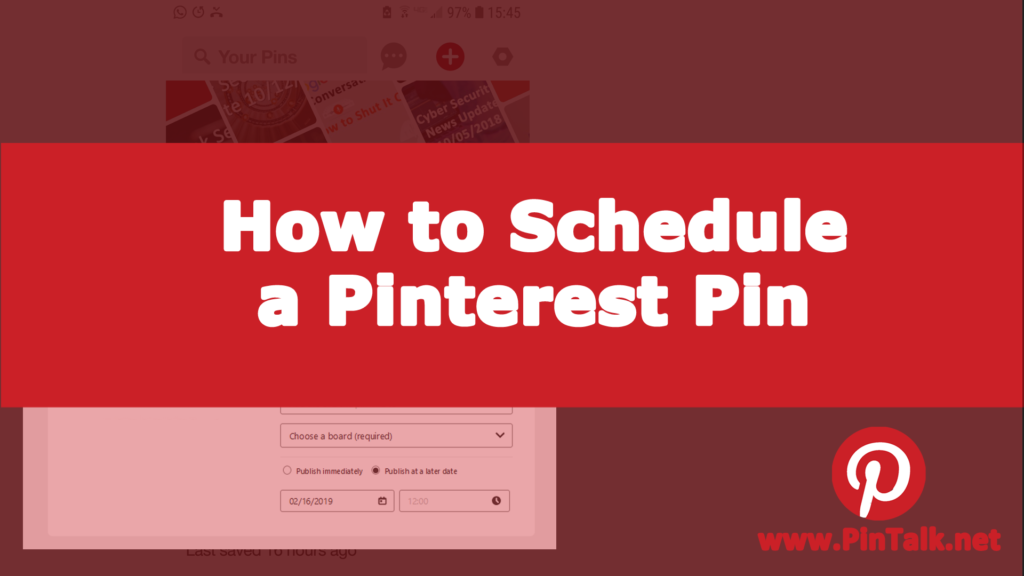 How to Schedule Pinterest Pins