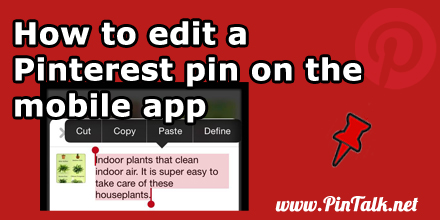 How to edit a Pinterest pin on the mobile app--440