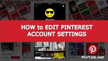 Pinterest Edit Account Settings