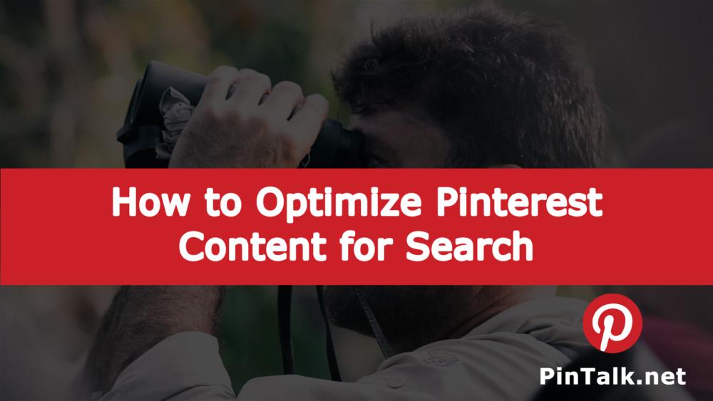 Pinterest Optimize Search