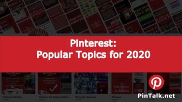 Pinterest Popular Topics 2020