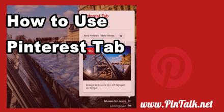 Pinterest Tab Help