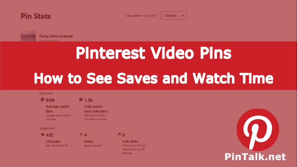 Pinterest Video Pins - See Saves Watch Time