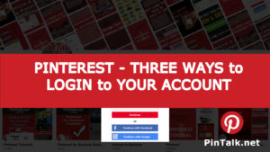 Pinterest Ways Login Account