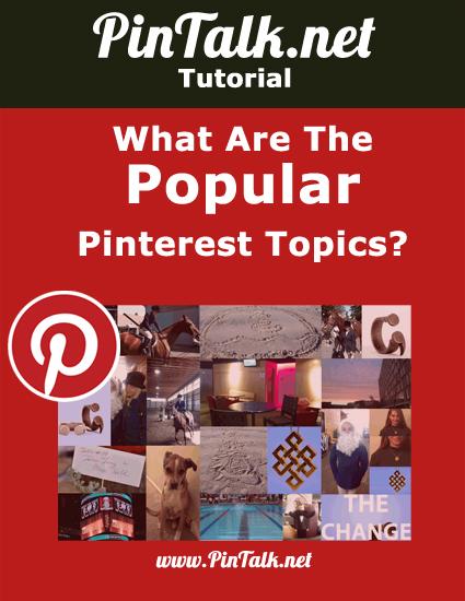 popular pinterest topics