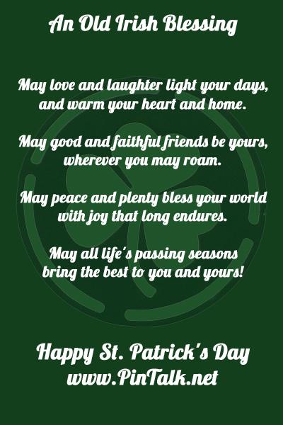 Happy St. Patrick's Day Pintalk